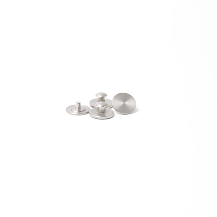CD concentric patterned Stainless steel male and female rivet for rubber