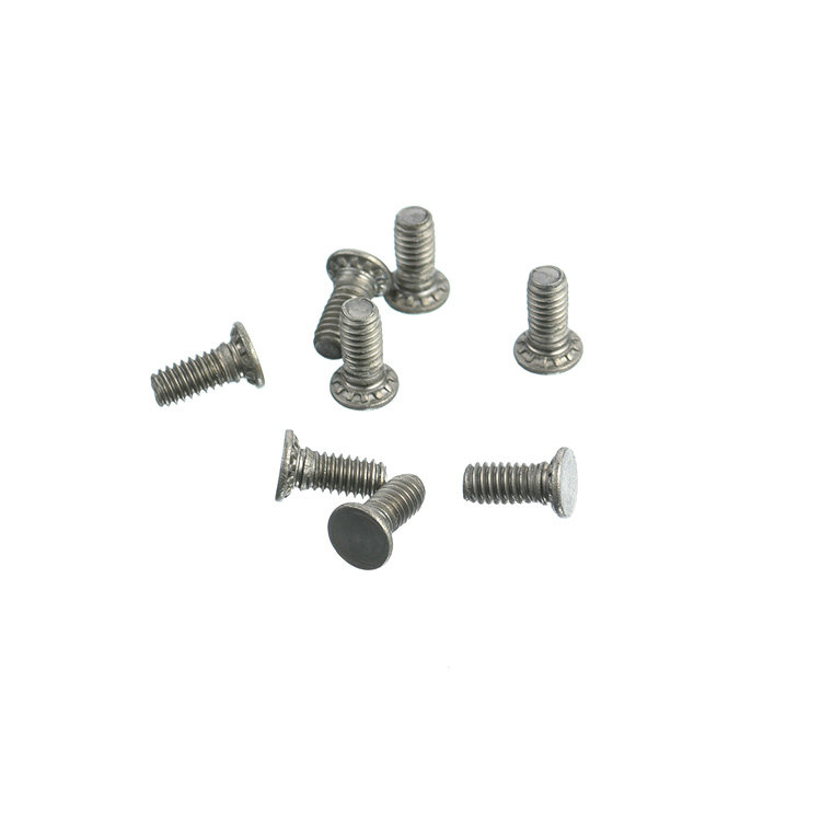 Customized carton steel Pressure riveting screw with nickel plated