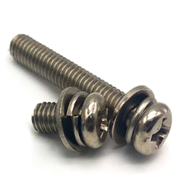 GB9074.4 Cross Spring washer and flat washer Combination Screw