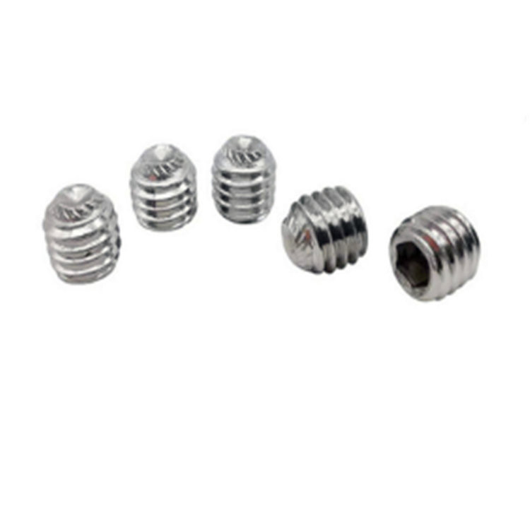 A2-70 stainless steel knurled cup point hexagon socket set screw