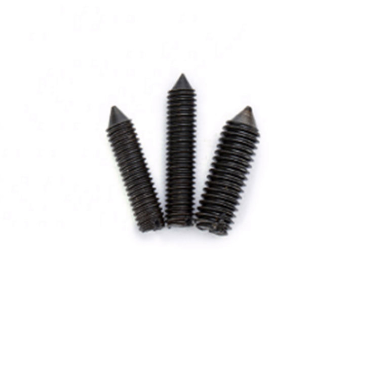 Carbon steel M6 8.8 Din553 black slotted cone point set screw