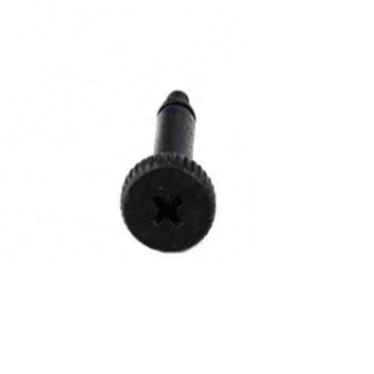 Mingze black stainless steel M2 ISO 7379 cross knurled head shoulder screw