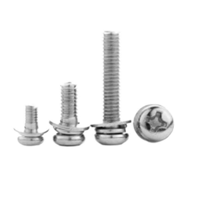 Customized cross pan round head combination screw with washer