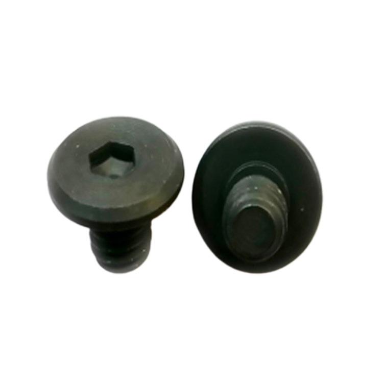 Black stainless steel half thread big flat head CD pattern screw