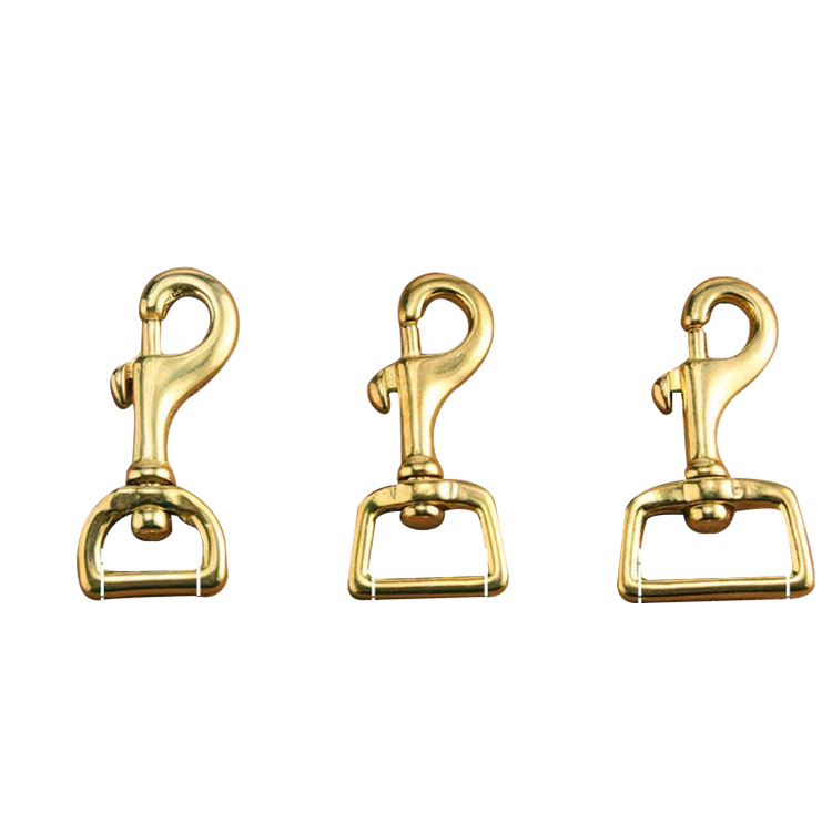 Bag Accessories Swivel solid brass snap hook