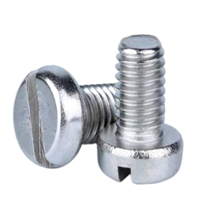 DIN84 M1 M1.2 cheese head stainless steel A2 A4 slotted micro screw