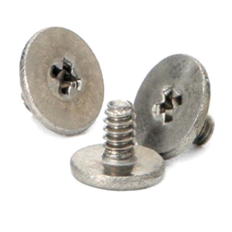 Flat head stainless steel small electroniecs cell phone screw