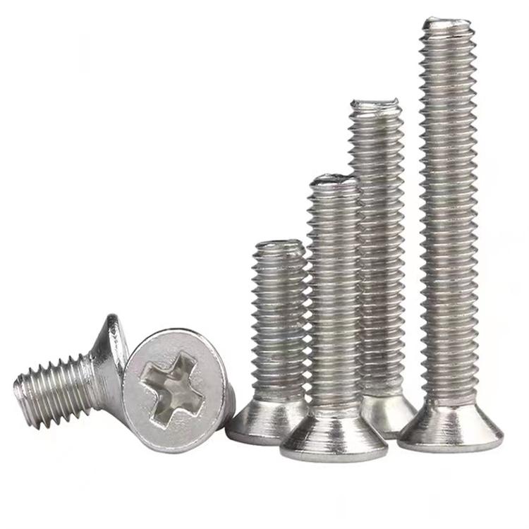 DIN965 stainless steel countersunk head machine thread screw